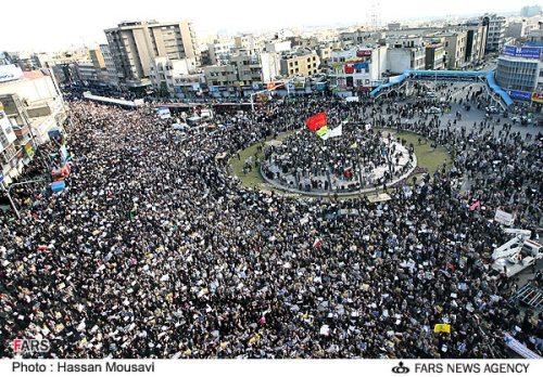 عکسی از راهپیمایی امروز تهران در محکومیت تحرکات بیست و پنج بهمن